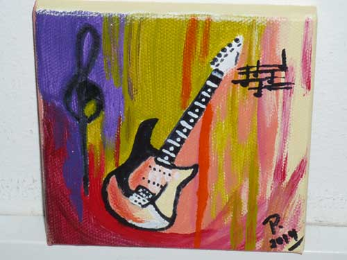 Bild mit Gitarre Atelier P Köln