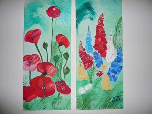 Bild mit Mohnblumen und Lupinen Atelier P Köln