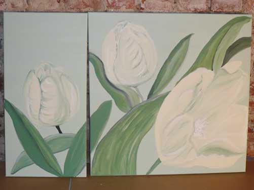 Bild mit weissen Tulpen Atelier P Köln