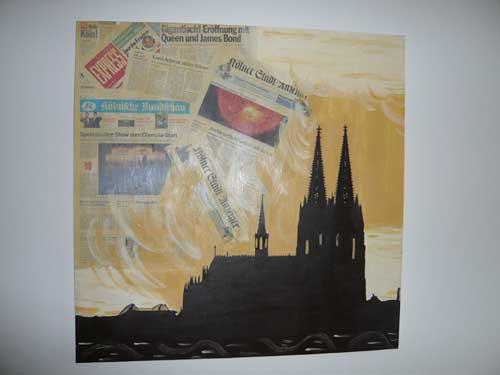 Collage mit Dom Atelier P Köln